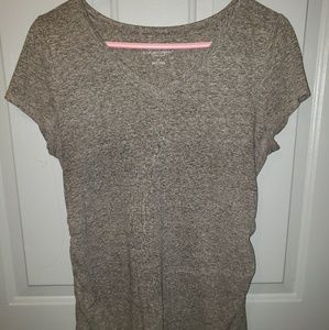 Gray V- neck maternity top